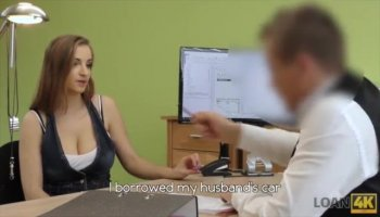 Amber Daikiri in stockings sex video with a handsome cutie fucking